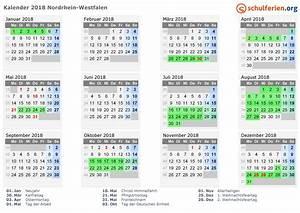 Ferien Nrw 2018 19 : kalender 2018 2019 2020 nordrhein westfalen ~ Buech-reservation.com Haus und Dekorationen