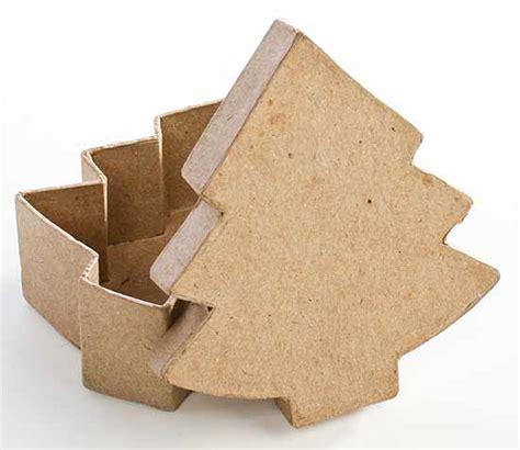 paper mache christmas tree box paper mache basic craft