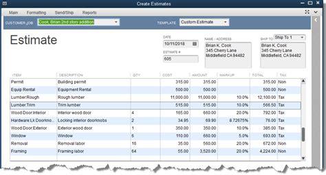estimates experts  quickbooks consulting