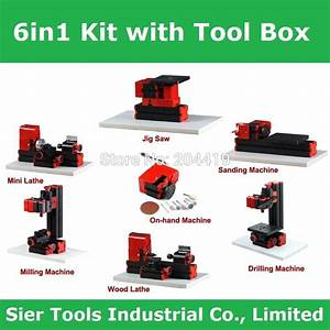 2020 Tool Box Type   6 In 1 Lathe  Z6000z Diy Lathe Kit  6