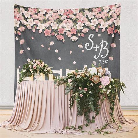 floral backdrop  wedding reception wedding ceremony