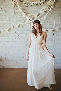 simple draped wedding dress with open back onewedcom With draped wedding dress
