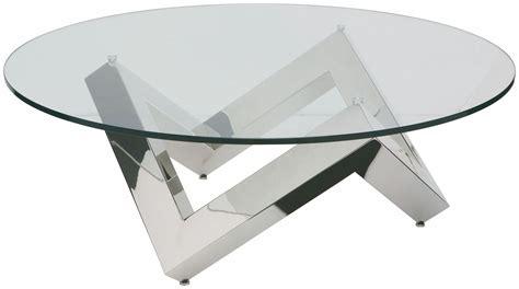 Como Silver Clear Glass Coffee Table, Hgta523, Nuevo