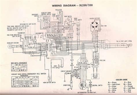 Honda Xl 350 Wiring Diagram by R4l Xl350 Wiring Diagram And Xl250
