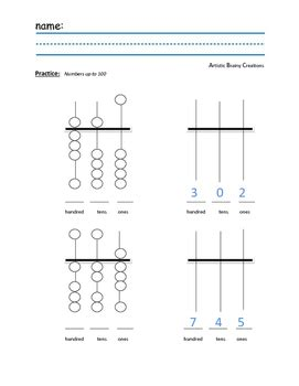 They are exercises based on the examples found in books and others sources. Abacus Practice worksheet by Artistic Brainy Creations   TpT