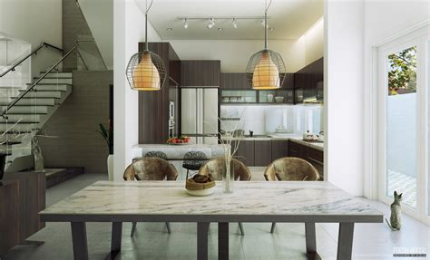 dinning room modern chic contemporary spaces rendered by anh nguyen