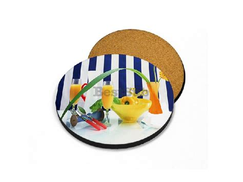 the coaster factory templates sublimation round coaster with cork bestsub