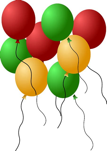 gambar vektor gratis balon grup helium warna warni