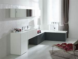 15 modeles de salle de bains qui s39adaptent a tous les With meuble de salle de bain porcelanosa