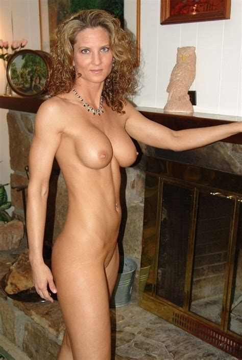 Fit Milf By The Fireplace Milf Luscious
