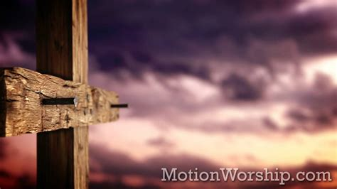 rugged cross nails sunset hd looping background  motion