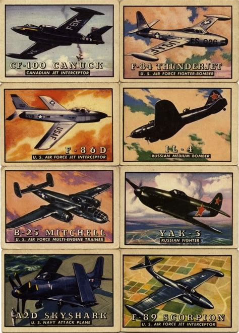 Maybe you would like to learn more about one of these? TOPPS Wings Airplane Trading Cards ... including the F-84 ...