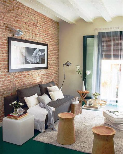 59 Cool Living Rooms With Brick Walls  Digsdigs. Install Backsplash In Kitchen. Kitchen Color Paint. What Is A Backsplash In Kitchen. Glass Kitchen Countertops Price. Pictures Of Concrete Countertops In Kitchen. Colors For Cabinets Small Kitchens. Black And White Floor Tile Kitchen. How To Paint Kitchen Countertops