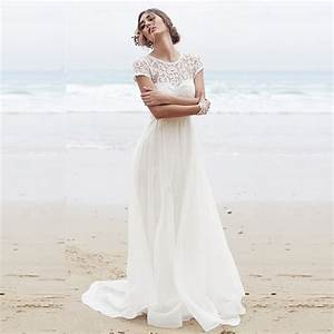 sexy beach wedding dress 2015 white bohemian wedding With sexy beach wedding dress