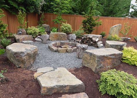 outdoor pit landscaping ideas 15 stone landscaping ideas quiet corner