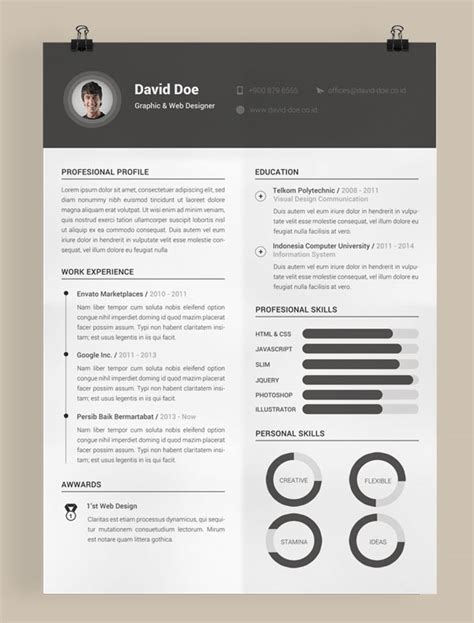 Indesign Resume Template 2016 Free by Free Resume Cv Templates In Psd Ai Indesign Pdf