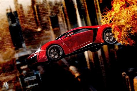 Furious 7 Car Wallpaper by Furious 7 W Motors Lykan Hypersport Jump Hd Wallpaper