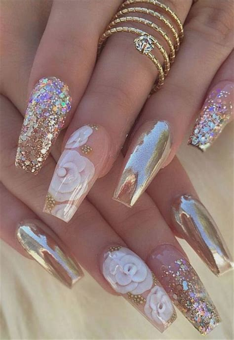 hot fashion coffin nail trend ideas nails art
