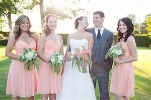 White Free And Coral Bridal Party Flowers By Anastasia