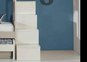 Lit Superposé Escalier : escalier avec marche tiroirs pour lit mezzanine ou lit ~ Premium-room.com Idées de Décoration