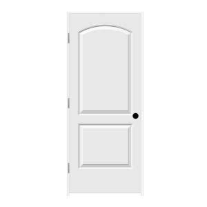 home depot solid core 32 in x 80 in smooth 2 panel arch top solid primed molded single prehung interior door