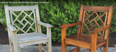how to restore weathered teak outdoor furniture