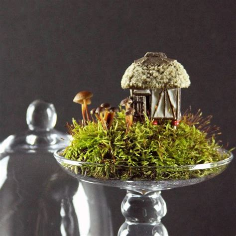 fanciful ladybug cottage for terrariums or gardens