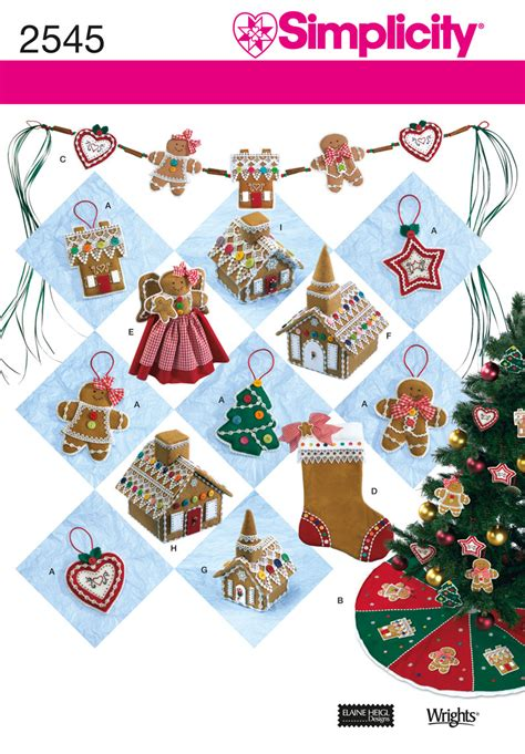 simplicity 2545 holiday crafts sewing pattern