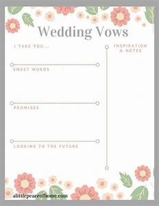 best 25 wedding vows template ideas on pinterest how to With vow writing template