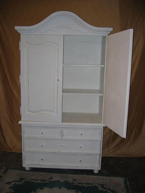 shabby chic white wardrobe new shabby chic distressed cottage white antique armoire wood ebay