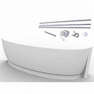 Tablier Pour Baignoire : baignoire gain de place castorama maison design ~ Premium-room.com Idées de Décoration