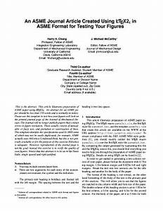 Technical Report Cover Page Template Journal Article In Asme Format Fill Online Printable