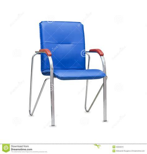bureau bleu chaise de bureau de cuir bleu d 39 isolement image stock
