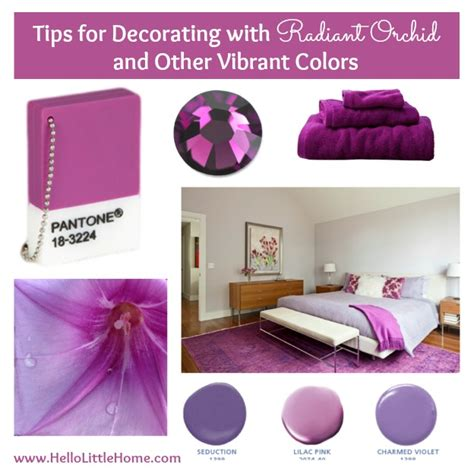 Tips For Decorating With Radiant Orchid And Other Bold Colors