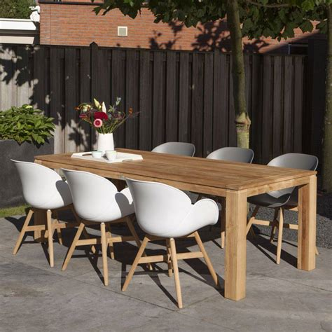Teak Holz Kunststoff Sitzschale Stuhl Garten Terrasse