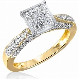 1 CT TW Diamond Women39s Bridal Wedding Ring Set 14K