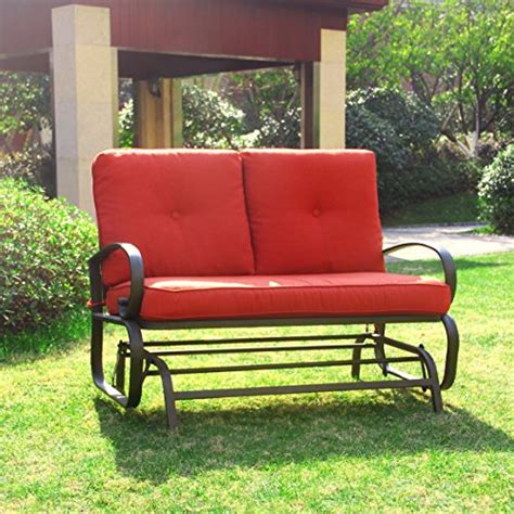 cloud mountain outdoor patio 2 person loveseat cushioned
