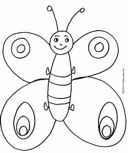 Dessin Facile Papillon : coloriage petit papillon rigolo t te modeler ~ Melissatoandfro.com Idées de Décoration