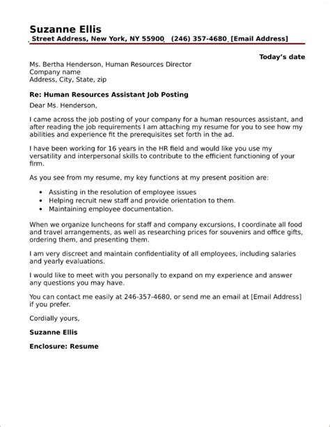 Hr Assistant Cover Letter No Experience by Human Resources Assistant Cover Letter Backtobook Info