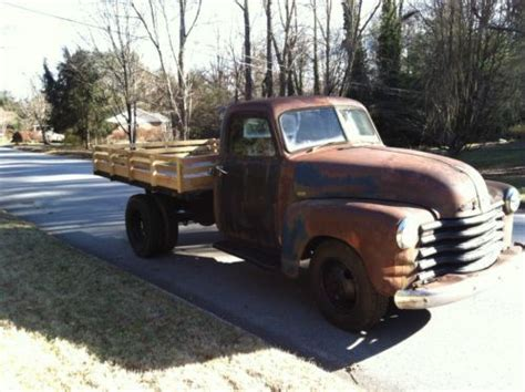 1950 chevrolet 3800 dump truck chevy up patina rat
