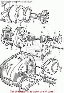 Honda C110 Clutch - Right Crankcase Cover