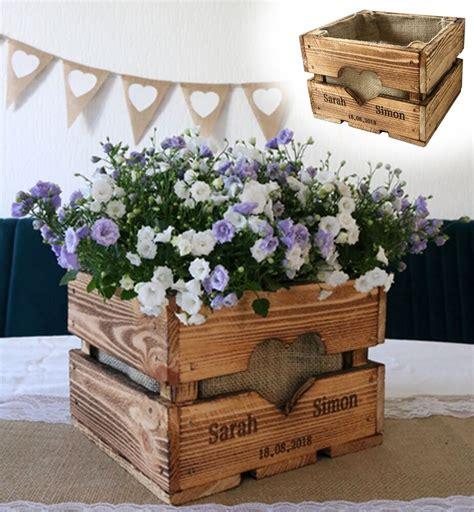 hochzeit vintage deko vintage hochzeit obstkiste tischdeko holz deko geschenk blumen l 228 ndlich rustikal ebay