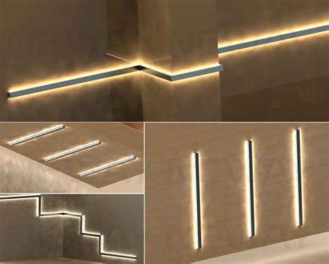 Pin Led Linear Direct Indirect Wall Mount Fixture Model Sl
