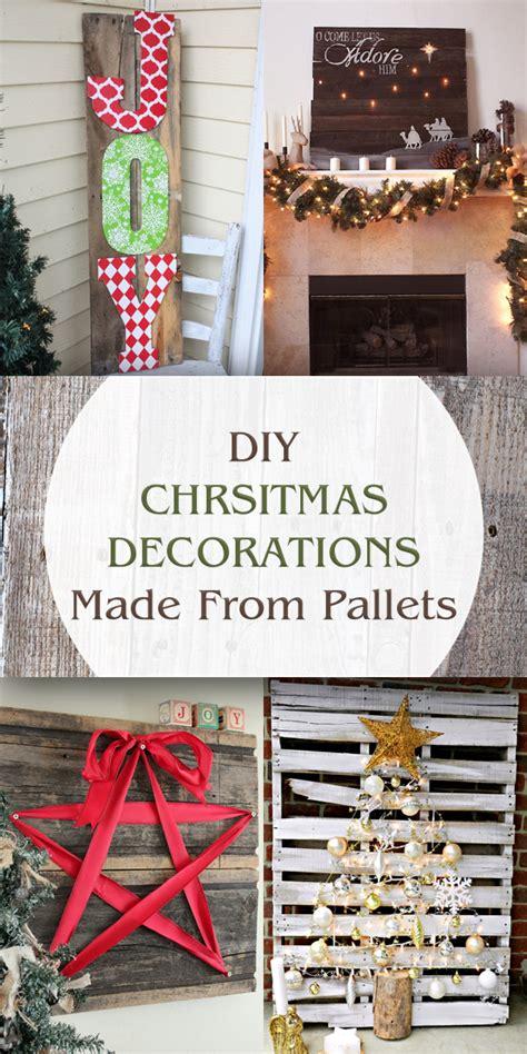 gorgeous diy christmas decorations   pallets