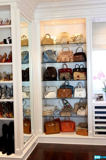 Purse Closet by A Tour Of The Newest Beverly S Home