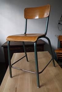 Chaise Haute Metal : 4 chaises bois metal ~ Teatrodelosmanantiales.com Idées de Décoration