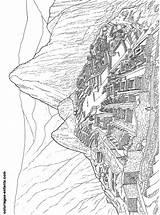 Machu Coloriage Dibujos Pintar Machupicchu Merveilles Picchu Coloriages Monde Liens Commerciaux sketch template