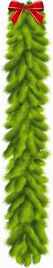 Transparent, Christmas, Pine, Garland, With, Red, Bow, Clipart