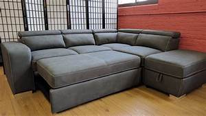 Abby sleeper sectional gray by primo for 4 piece sectional sleeper sofa