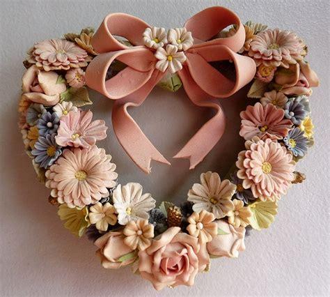 miniature dough flower wreath   toby garden